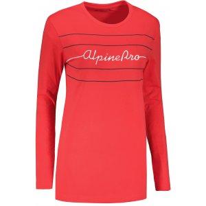 Dámské triko ALPINE PRO MEGANA 2 LTSU757 RŮŽOVÁ