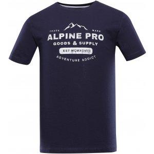 Pánské triko ALPINE PRO BYLID MTSU668 TMAVĚ MODRÁ