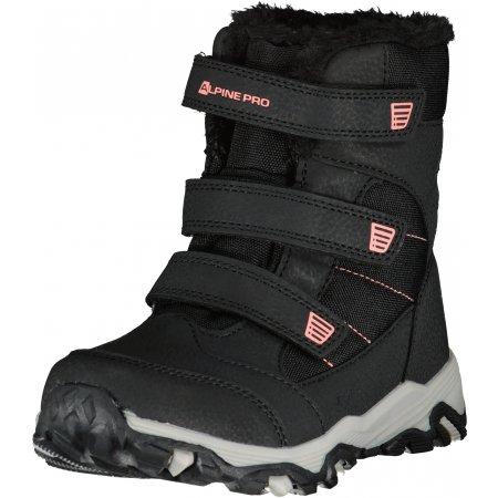Dětské zimní boty ALPINE PRO COLONO KBTU306 ČERNÁ