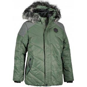 Dětská zimní bunda ALPINE PRO ICYBO 5 KJCU228 ZELENÁ