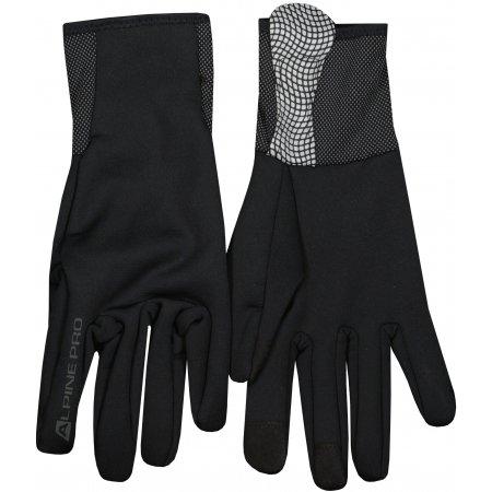 Pánské lyžařské rukavice ALPINE PRO DAG MGLU021 ČERNÁ