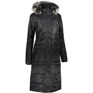 Dámský dlouhý kabát ALPINE PRO TESSA 5 LCTU150 ČERNÁ