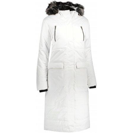 Dámský dlouhý kabát ALPINE PRO TESSA 5 LCTU150 BÍLÁ
