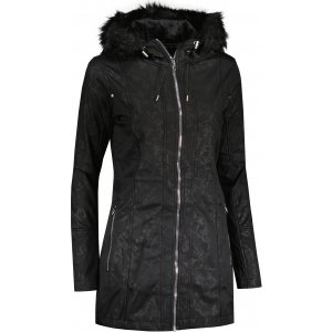 Dámský dlouhý kabát ALPINE PRO MISALA LCTU159 ČERNÁ