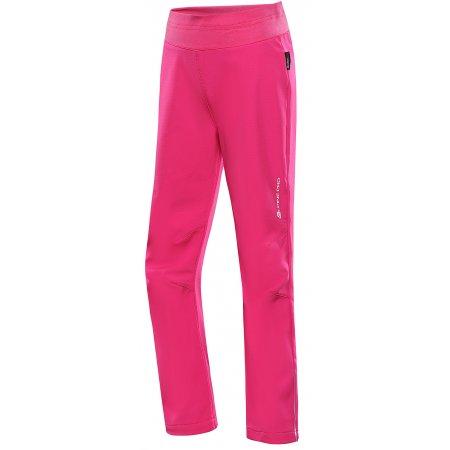 Dětské softshellové kalhoty ALPINE PRO OCIO INS. KPAU072 RŮŽOVÁ