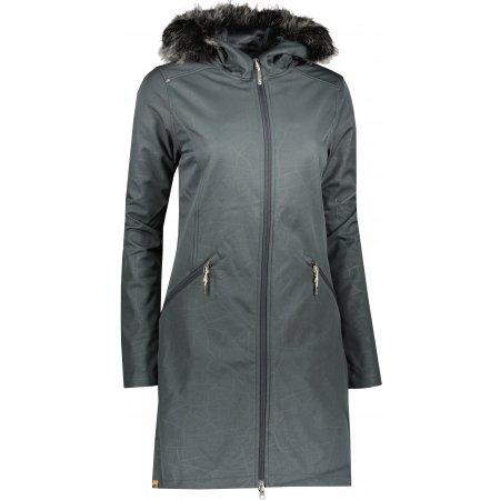 Dámský kabát ALPINE PRO PRISCILLA 5 INS. LCTU148 TMAVĚ ŠEDÁ