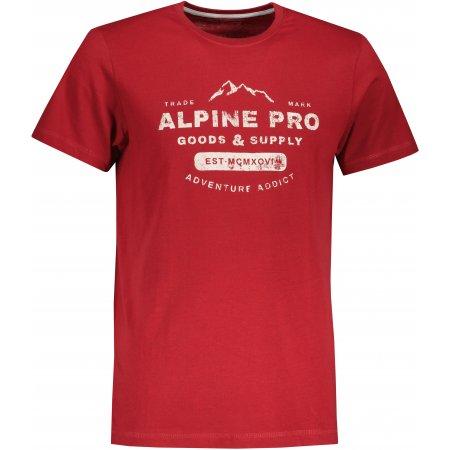 Pánské triko ALPINE PRO BYLID MTSU668 ČERVENÁ