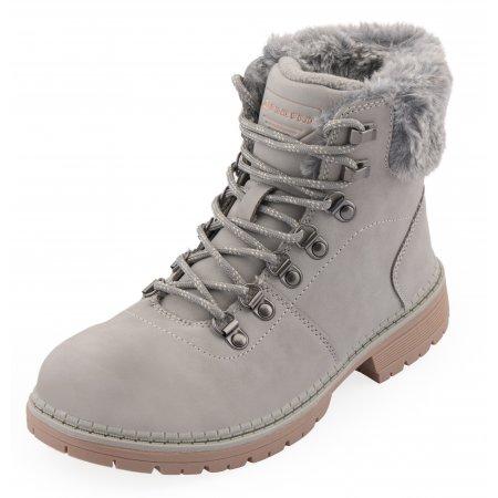 Dámské zimní boty ALPINE PRO ALORA LBTU353 SVĚTLE ŠEDÁ