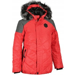 Dětská zimní bunda ALPINE PRO ICYBO 5 KJCU228 RŮŽOVÁ