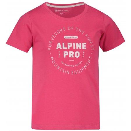 Dětské triko ALPINE PRO YVATO KTSU362 RŮŽOVÁ