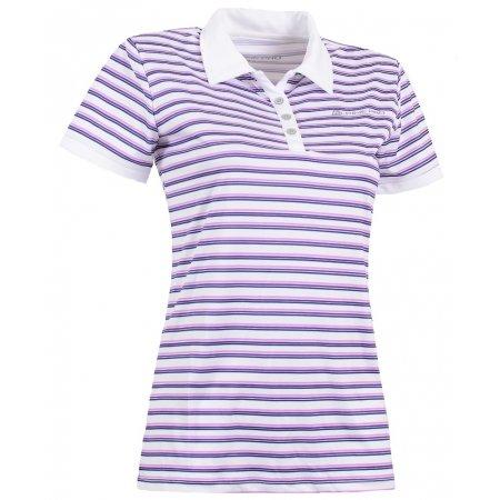 Dámské triko s límečkem ALPINE PRO ULRICO 2 BÍLÁ