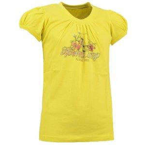Dívčí triko ALPINE PRO SILVA 2 ŽLUTÁ